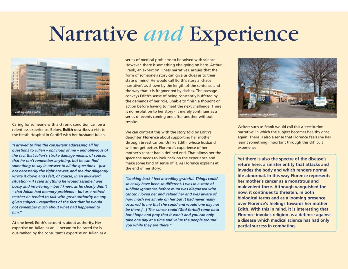 Narratives and Experience – Cardiff ScienceHumanities